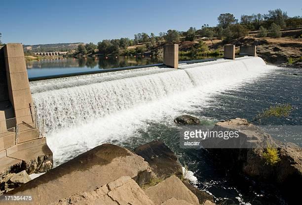 Diversione di salmone fiume Dam, piume, Oroville, California