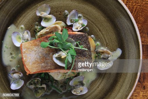 Filete de salmón comida : Foto de stock