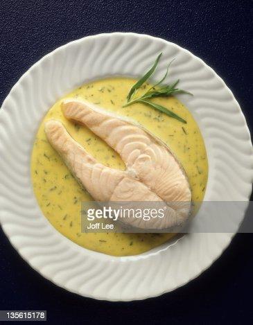 Salmon in a tarragon sauce