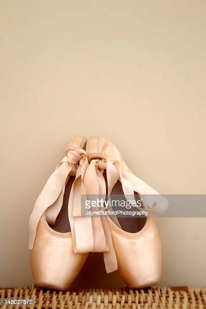 Salmon pink ballet shoes