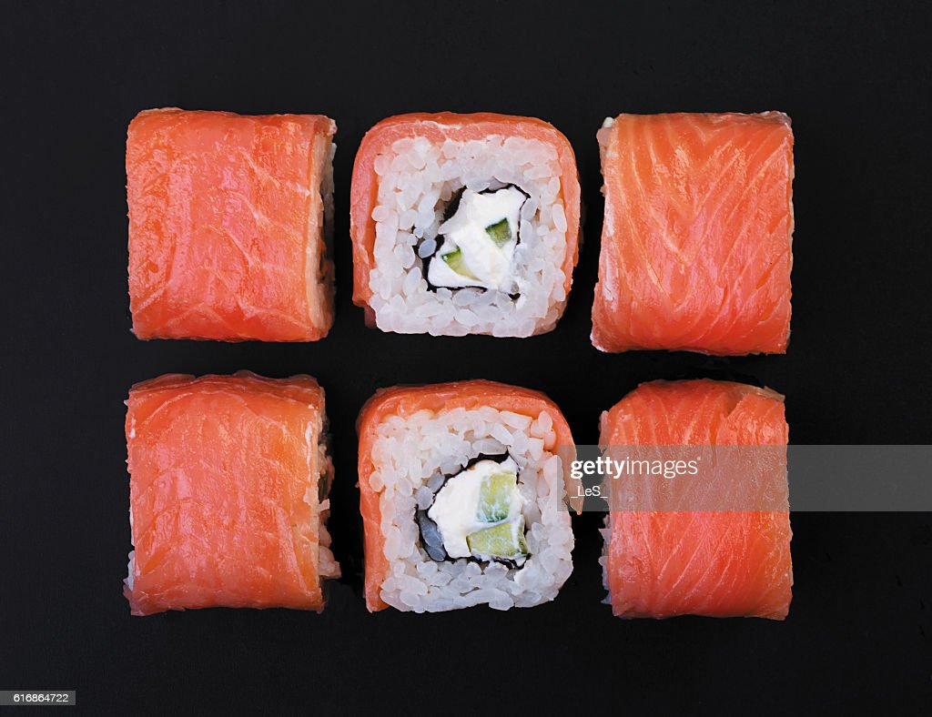 Salmon rolls : Stock Photo