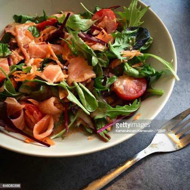 Salmon Salad with sesame oil