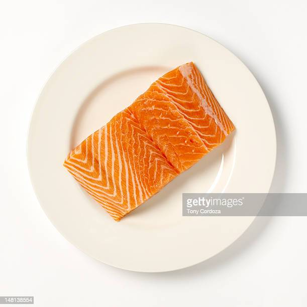 Salmon steak on a plate