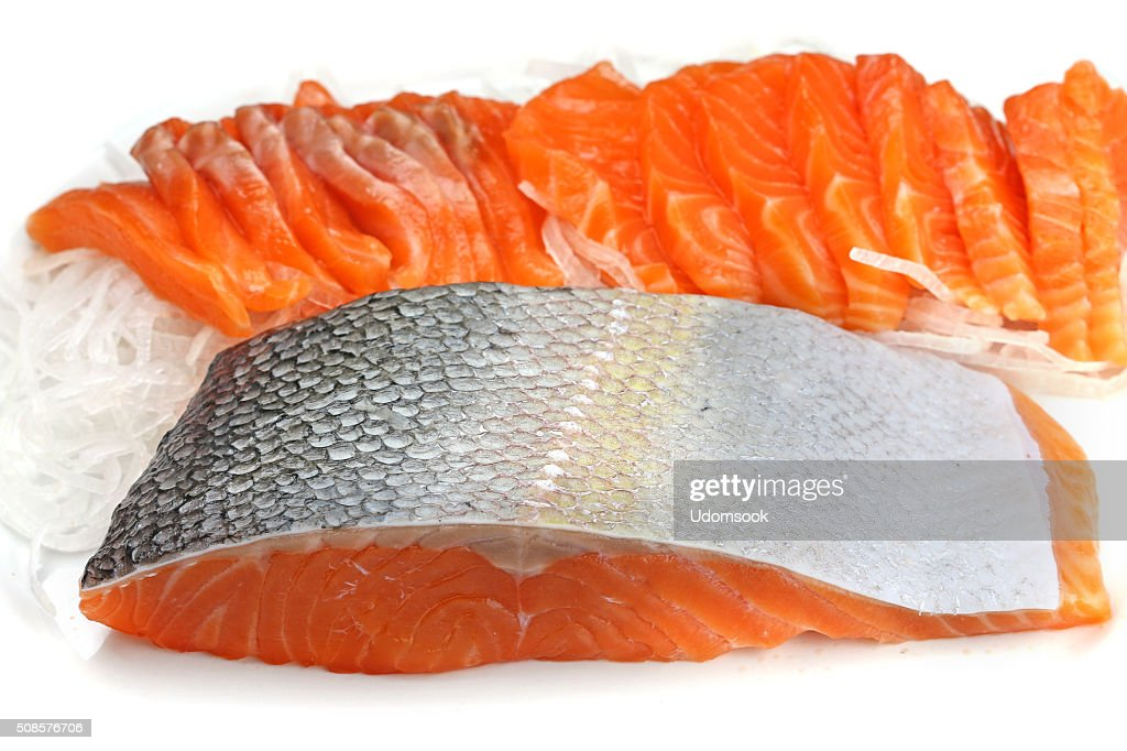 salmon steak red fish : Stock Photo