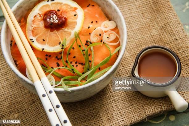 Salmon Sushi Don