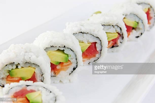 Rouleau de saumon, thon
