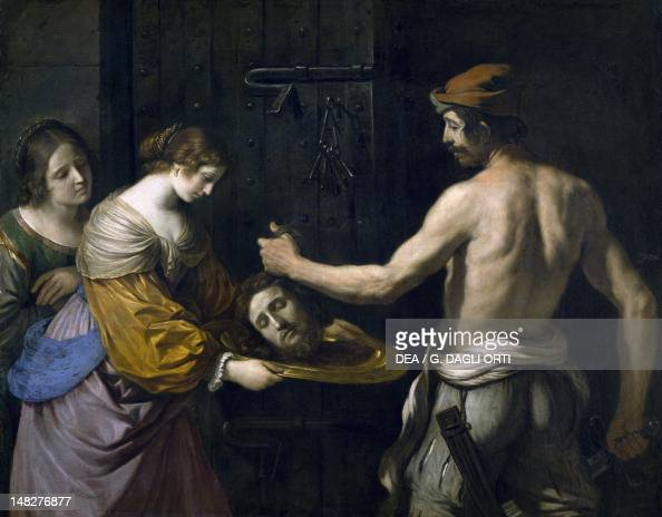 Salome receiving the head of St John the Baptist by Guercino oil on canvas 139x175 cm Rennes Musée Des BeauxArts