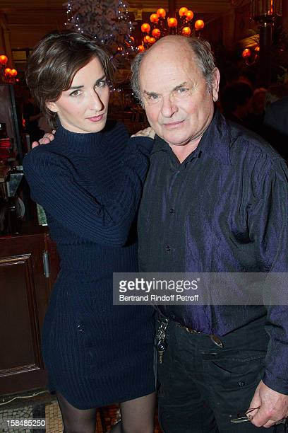 Salome Stevenin and her father JeanFrancois Stevenin pose at restaurant Le Grand Colbert on December 17 2012 in Paris France