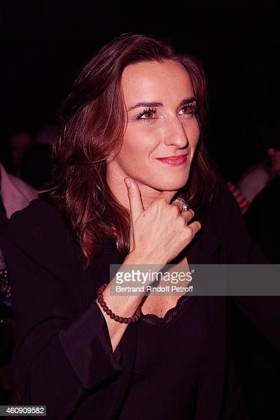 Salome Stevenin attends in Backstage after the Laurent Gerra Show at Palais des Sports on December 27 2014 in Paris France