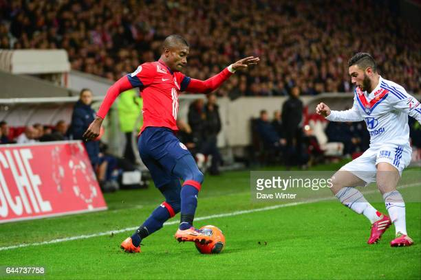 Salomon KALOU / Jordan FERRI Lille / Lyon 26eme journee de Ligue 1 Photo Dave Winter/ Icon Sport