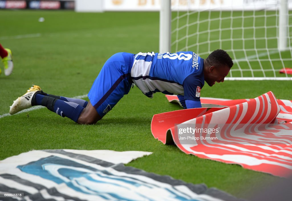 Salomon Kalou of Hertha BSC during the game between FSV Mainz 05 and Hertha BSC on april 15, 2017 in Mainz, Germany.