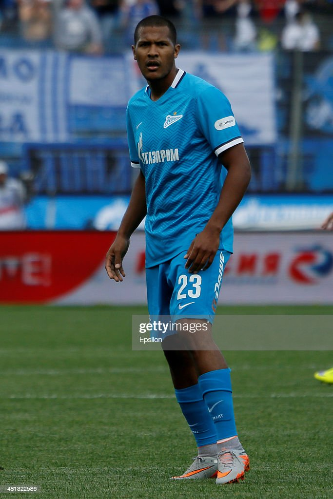 Salomon Rondon of FC Zenit St. Petersburg during the Russian Football League match between FC Zenit St. Petersburg and FC Dinamo Moscow at the Petrovsky stadium on July 19, 2015 in St. Petersburg, Russia.
