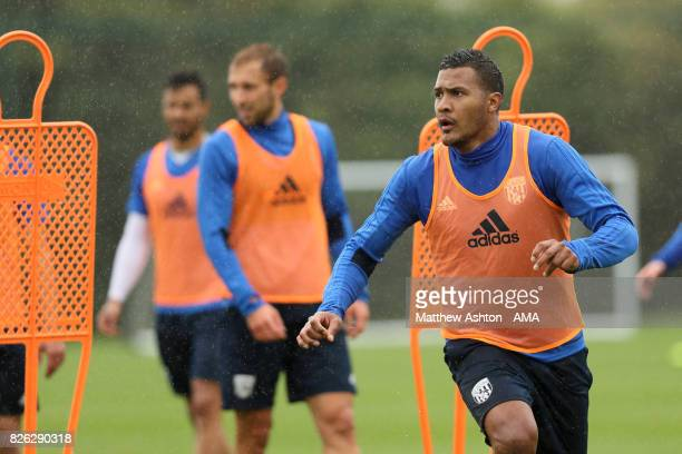 Salomon Rondon of West Bromwich Albion during a training session on August 3 2017 in West Bromwich England