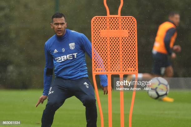 Salomon Rondon of West Bromwich Albion during a West Bromwich Albion Training Session on October 19 2017 in West Bromwich England