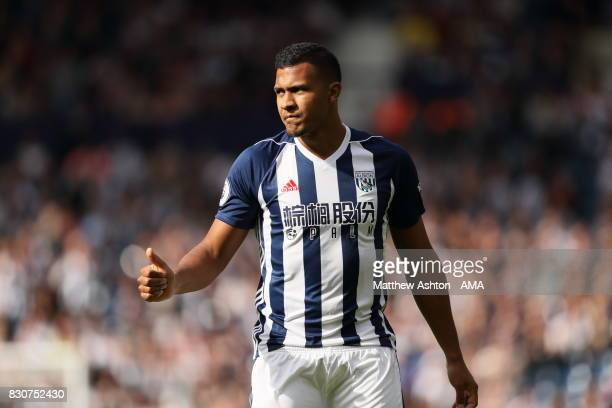 Salomon Rondon of West Bromwich Albion during the Premier League match between West Bromwich Albion and AFC Bournemouth at The Hawthorns on August 12...