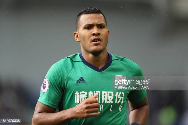 Salomon Rondon of West Bromwich Albion during the Premier League match between Brighton and Hove Albion and West Bromwich Albion at Amex Stadium on...