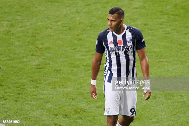 Salomon Rondon of West Bromwich Albion during the Premier League match between West Bromwich Albion and Manchester City at The Hawthorns on October...