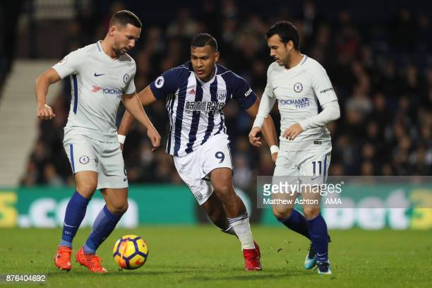 Salomon Rondon of West Bromwich Albion during the Premier League match between West Bromwich Albion and Chelsea at The Hawthorns on November 18 2017...