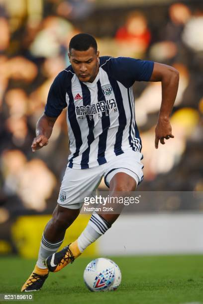 Salomon Rondon of West Bromwich Albion in action during the pre season friendly match between Burton Albion and West Bromwich Albion at Pirelli...