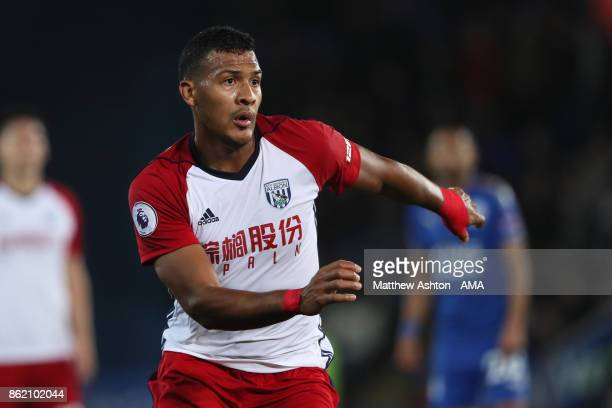 Salomon Rondon of West Bromwich Albion in action during the Premier League match between Leicester City and West Bromwich Albion at King Power...