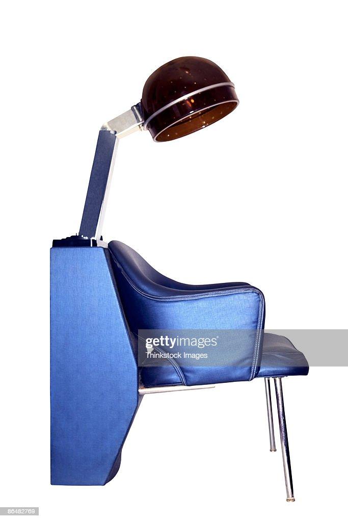 Salon hair dryer and chair