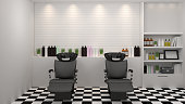 salon interior modern style,spa,beauty, 3d illustration,hairdresser,hair, nail salon,background