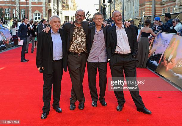 Salonisti the Titanic on screen house band attend the 'Titanic 3D' World Premeire at the Royal Albert Hall on March 27 2012 in London England