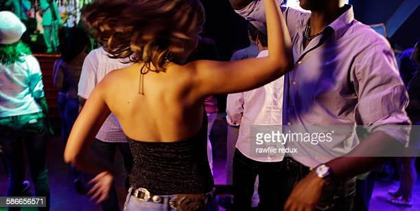 Salsa dancers at a club