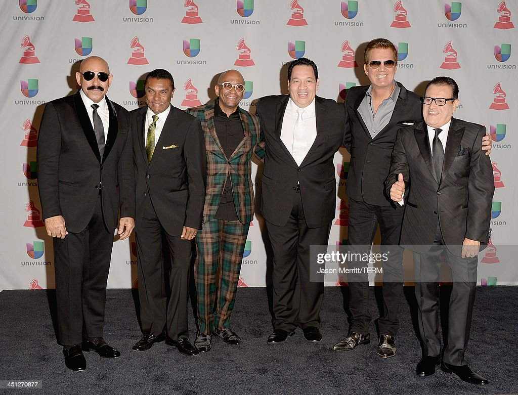 Salsa Giants pose in the press room at the 14th Annual Latin GRAMMY Awards held at the Mandalay Bay Events Center on November 21, 2013 in Las Vegas, Nevada.