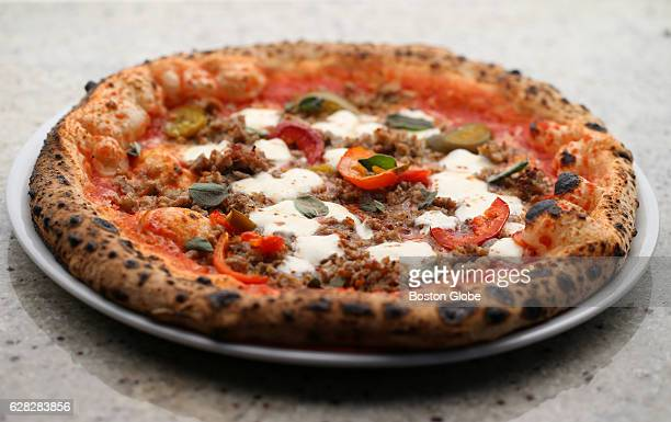 Salsiccia pizza is pictured at Ciao Pizza in Chelsea MA on Jun 15 2016