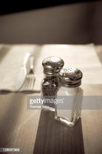 Salt and pepper shakers, Morro Bay, CA