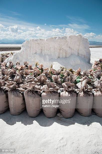salt bags at Salinas Grandes