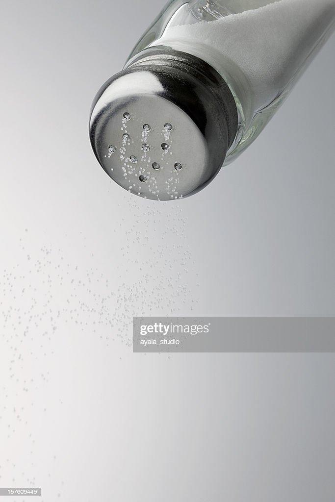 Salt coming out, Close-up