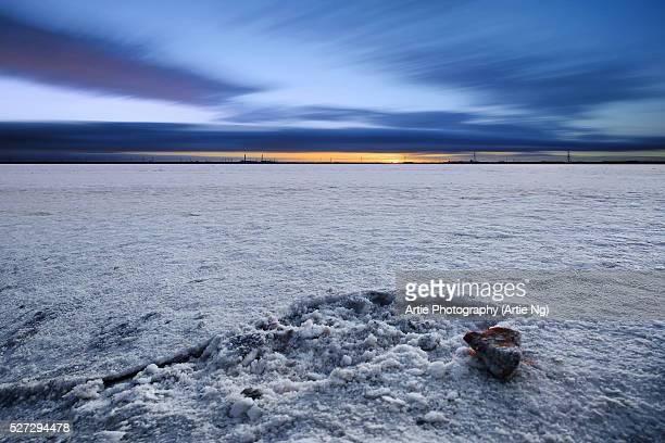 Salt Crystallization Pans, Dry Creek, South Australia