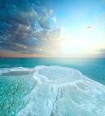 Salt field in dead sea
