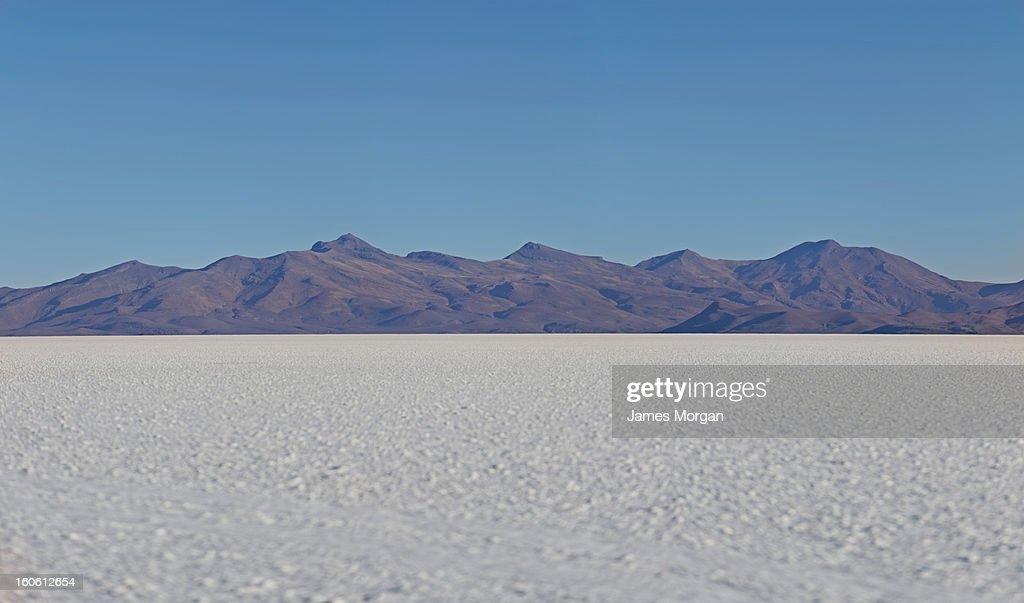 Salt flat and mountains, Salar de Uyuni, Bolivia