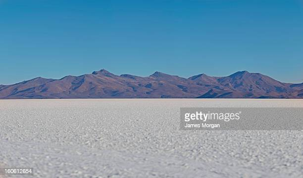 Salt flat and mountains, Salar de Uyuni, Bolivia