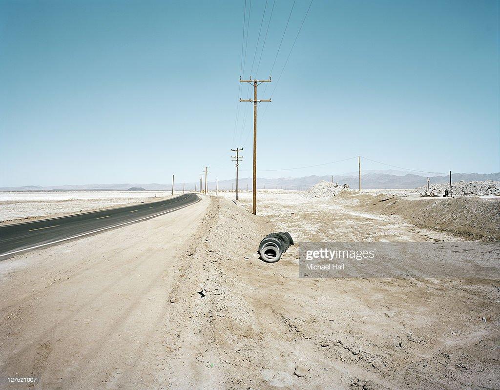 Salt flats : Stock Photo