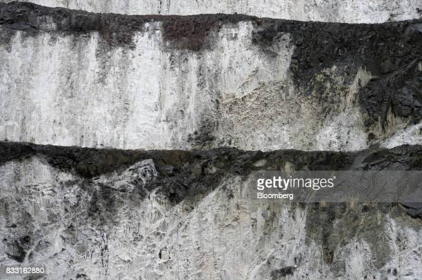 Salt forms on the side of the Invincible open pit mine at the St Ives Gold Mine operated by Gold Fields Ltd in Kambalda Australia on Wednesday Aug 9...