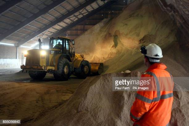 Salt is unloaded into a storage facility at the Irish Salt Mining Exploration Co site in Kilroot Carrickfergus Co Antrim The company has been mining...