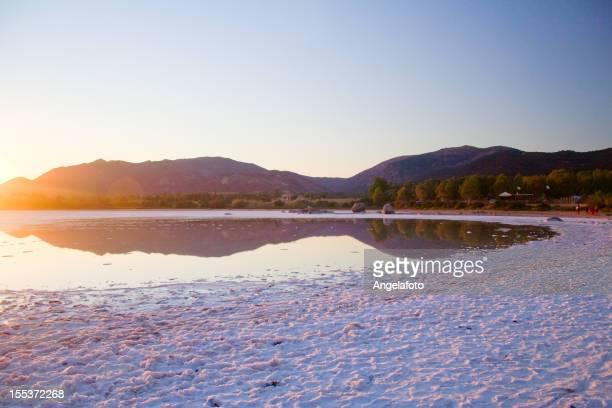 Salt lake at Sunset, Sardinia, Italy
