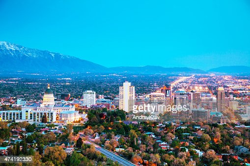 Salt Lake City overview : Stock Photo