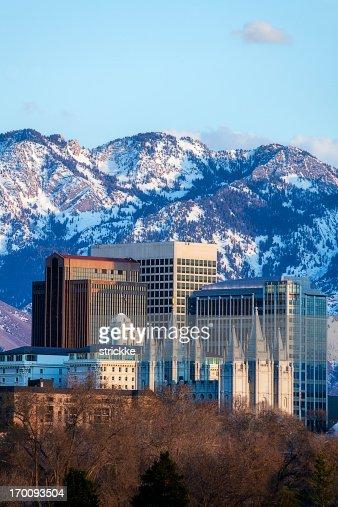 Salt Lake City skyline located downtown