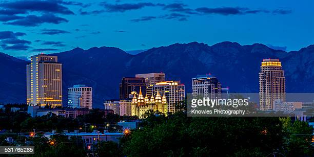 Salt Lake City Utah night