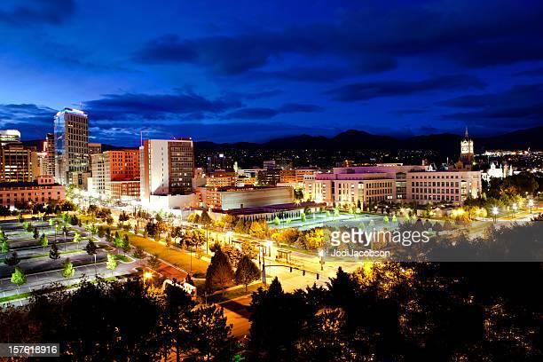 Salt Lake City Utah Skyline golden hour
