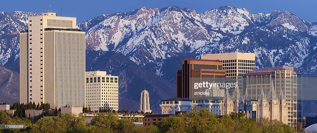 Salt Lake City Web Pop-under Skyline Panorama