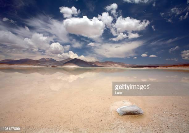 Salt lake, Salar de Altiplano - Atacama, Chile