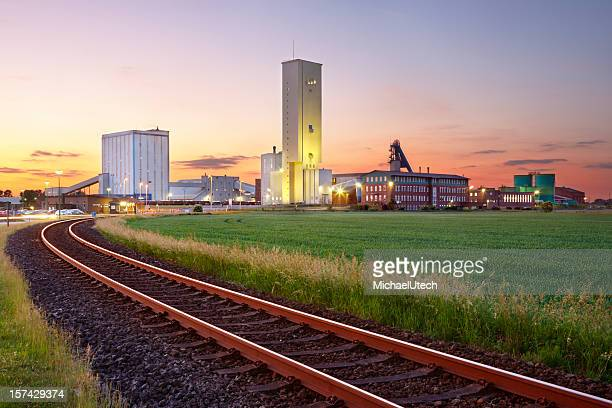 Salt Mine At Sunset