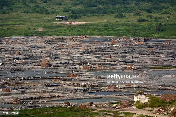 Salt mining in Uganda