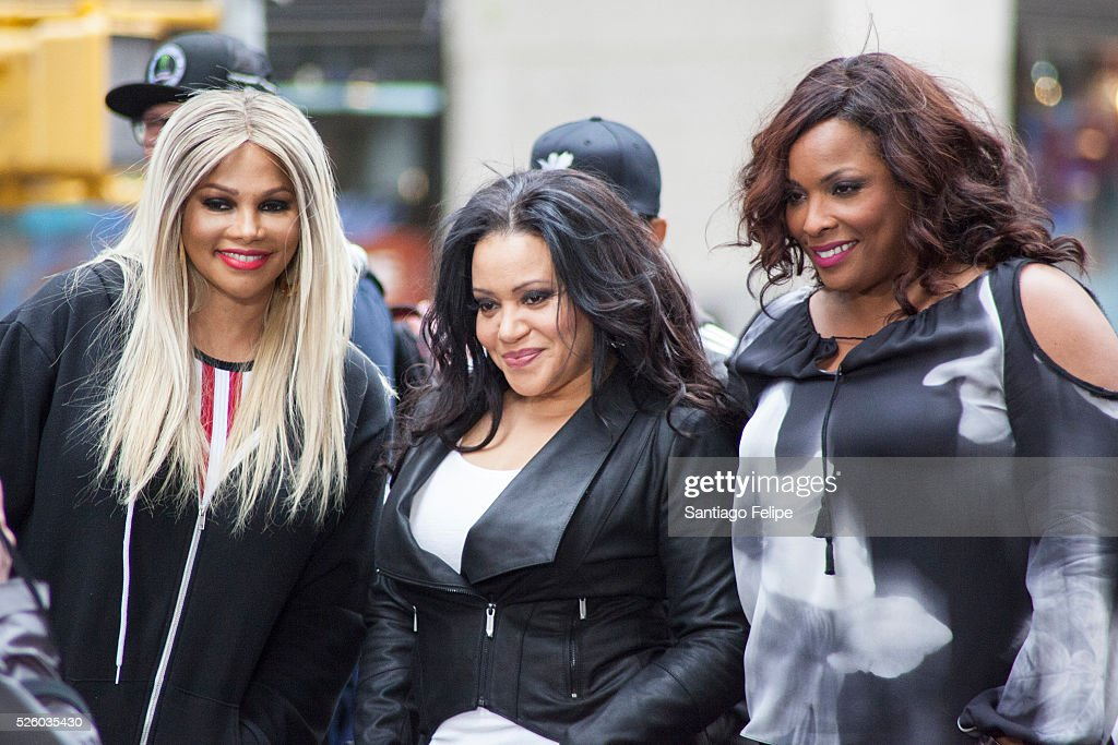 Salt n Pepa and DJ <a gi-track='captionPersonalityLinkClicked' href=/galleries/search?phrase=Spinderella&family=editorial&specificpeople=984708 ng-click='$event.stopPropagation()'>Spinderella</a> perform onstage during I Love The 90's Concert Tour Performs On NBC's 'Today' at Rockefeller Plaza on April 29, 2016 in New York City.
